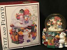 New In Original Box 2003 Fitz And Floyd Frosty Folks Musical Snow Globe