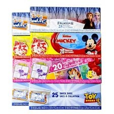 Resealable Snack Treat Bags, Disney Toy Story 4, Mickey, Frozen II, Princess