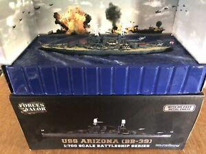 Forces of Valor USS ARIZONA BATTLESHIP (BB-39) 1:700 Die Cast - EXCELLENT