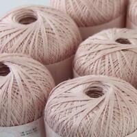 AIP Thread No.8 Cotton Crochet Yarn Craft Tatting Hand Knit Embroidery 50gX6 #08
