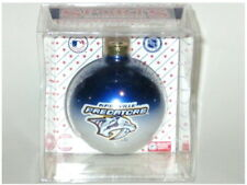 NASHVILLE PREDATORS NHL GLASS CHRISTMAS ORNAMENT 2-TONE ORNAMENT BY TOPPERSCOT