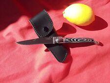 COUTEAU STYLE LAGUIOLE  GRIS + ETUI  FRENCH LAGUIOLE TYPE KNIFE