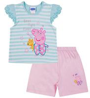 Peppa Pig Good Night Teddy  Peppa Short Pyjamas - Ages 1 - 5 Years Kids PJ Sets