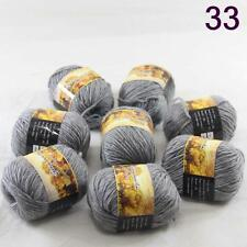 Sale Lot 8 Skeins NEW Knitting Yarn Chunky Hand-woven Colorful Wool scarves 33