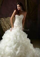 U.K Mermaid beaded ruffle sweetheart neckline  wedding dress size 8