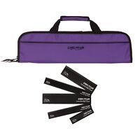 5 Pocket Chef Knife case roll bag (Purple) w/ 5pc knife edge guard Set Ergo Chef