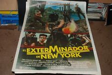 The Exterminator spanish Original movie poster 43x29  Robert Ginty Cult Classic