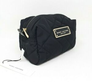 Marc Jacobs Medium Quilted Cosmetic Bag, Black, Gold