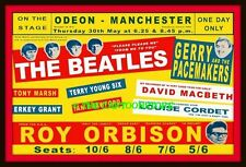 "BEATLES, GERRY, ROY ORBISON, MANCHESTER - MINI-POSTER PRINT 7"" x 5"""
