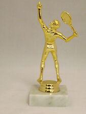 Tennis Figur  Herren Trophäe ca. 17 cm inkl. Gravur-Schild goldfarbig