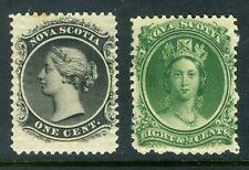 1860 Canada Nova Scotia Stamp: Queen Victoria  SC#8, SC#11, MLH &OG;  CV=$24