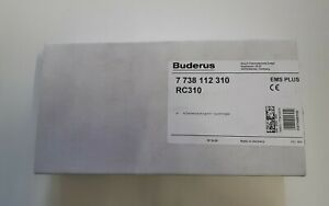 BUDERUS / LOGAMATIC Systemregler RC310 /  EMS plus /  Art. Nr. 7738112310