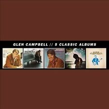 5 Classic Albums [Box] by Glen Campbell (CD, Nov-2013, 5 Discs, Universal)