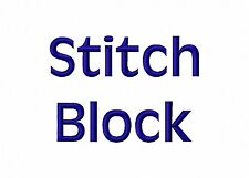 """Stitch Block Font Machine Embroidery Designs 5 sizes on CD Best 1/4"""" stitch out!"""
