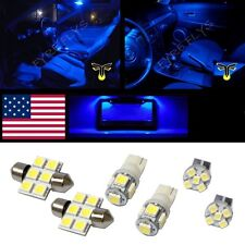 6 Blue LED interior lights package T10 & 31mm map dome + license plate lamp G1B