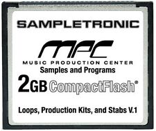 2GB of Samples & Programs for the AKAI MPC 500 on CompactFlash 2 GIG CF Card