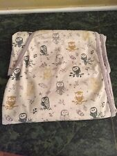 Miracle Blanket Swaddle Purple Forest Owl Pattern