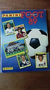 Album Panini Foot 1989 Championnat de France 89  D1 D2 quasi complet 96%