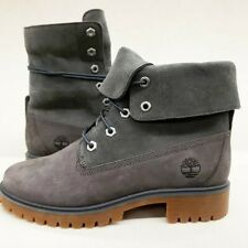 Timberland Womens Teddy Fold Down 7 Eye Nubuck Suede dk grey Sample Size 7 boot