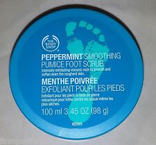 The Body Shop Spa Wisdom PEPPERMINT Smoothing Pumice FOOT SCRUB 3.45 oz NEW