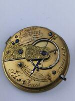 "Interesting John Jones Liverpool ""2nd Quality"" Pocket Watch Movement (D71)"