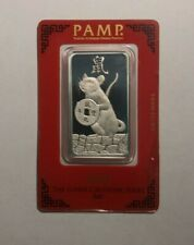 2020 Pamp Suisse Year of the Rat 1 Oz Silver Bar