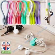 2XEarphone Cable Tidy Winder Headphone Cord Organiser Sillicone Magnetic