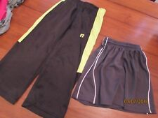 Boy size 4/5 Bcg Gray athletic shorts & Russell Black Neon Yellow Pants Soccer