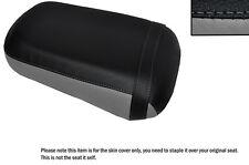 Gris Y Negro Custom encaja Honda Vtx 1800 02-04 Trasera de piel cubierta de asiento