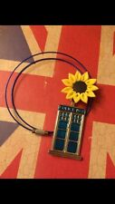 Handmade Doctor Who Necklace Amy Pond Van Gogh Sunflower Tardis Jewelry