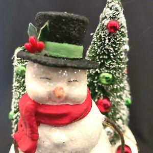 Bethany Lowe Christmas Snowman Box Merry Christmas
