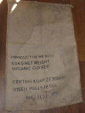 MEXICO mexique SAC de CAFE en TOILE de JUTE bag Jutestoff ORGANIC COFFEE