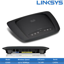 Refurbished Linksys X2000 ADSL+ 300 Mbps 3-Port Wireless N Router