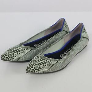 Rothy's The Point Ballet Flats 8 Pistachio Python Green Snake Retired Rare