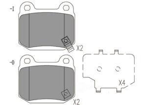 Disc Brake Pad Set-Premium Ceramic Pads Rear Dash 4 Brake CFD961