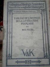 1912 Tableau De L'Histoire De La Literature Francaise by Max Fuchs