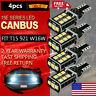 4X 921 White LED Reverse Light Canbus Error Free 912 T15 W16W Backup Bulb 2400LM