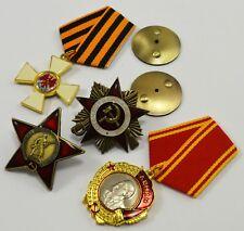 4 Russian Military Pin/Uniform Badge/Medals. Patriotic, Eagle, Red Star. Lenin