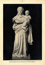 Fritz Schapers Marmorstatue der Königin Luise mit dem Prinzen Wilhelm Druck 1901