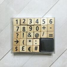 Numbers & Symbols Rubber Stamp Set 5/8