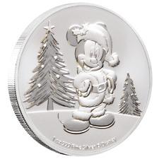 Niue - 2 Dollar 2019 - Disney™ - Mickey Mouse™ Christmas - 1 Oz Silber ST