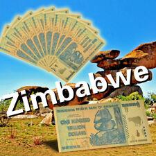 WR 10X Zimbabwe 100 Dollar Trillion Bundle Colored GOLD Banknotes Set 24K /w COA