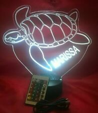 Sea Turtles Light Up Night Light Lamp LED Marine Turtle Personalized and Remote