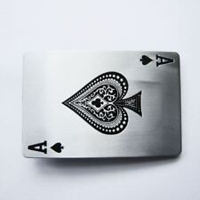 Ace of Spades Card Poker Hold'em Metal Belt Buckle