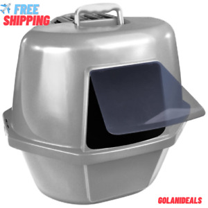 Enclosed Cat Pan Litter Box Hooded Jumbo Covered High Quality Free Shipping NEW