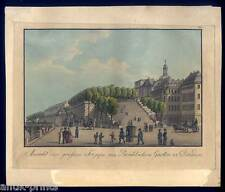 Dresden - Gouachierte Umrißradierung - Johann Carl August Richter um 1820