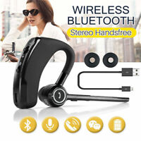 1PCS AURICOLARI BLUETOOTH CUFFIE WIRELESS MICROFONO PER SAMSUNG HUAWEI IPHONE v8