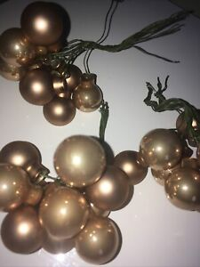 JOHN LEWIS 6 X glass Bronze Colour, Christmas Tree Decorations