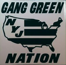 NY JETS GANG GREEN NATION vinyl decal