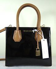 MICHAEL Michael Kors Studio Mercer Medium BLACK Patent Messenger Bag